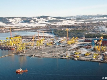 Offshore Platform Steel Jackets At Kvaerner Verdal Yard
