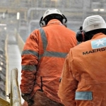Maersk Oil Offshore Workers In A Blizzard