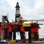 Odfjell Drilling Deepsea Bergen Offshore Drilling Rig At Aibel Shipyard, Norway