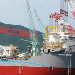 Pacific Drilling's Half Build Drillship, Pacific Zonda, Samsung Shipyard