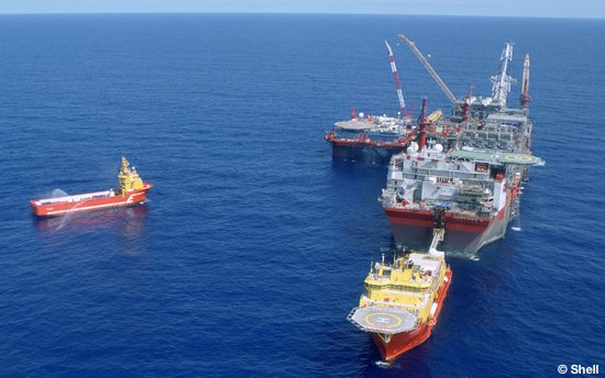The Shell Bonga FPSO Producing Offshore Oil, Nigeria