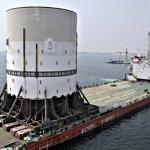 SBM Offshore Designed Turret Mooring System For Shell Prelude FLNG Leaving Dubai Shipyard