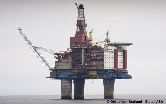 Statoil's North Sea Offshore Oil And Gas Platform Gullfaks B