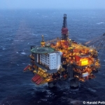 Giant Offshore Oil Platform Statfjord A