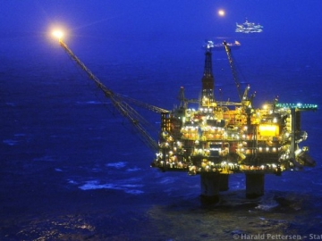 Statoil's Offshore Statfjord A Oil And Gas Platform, Norwegian North Sea