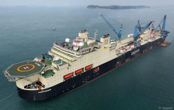 Saipem's Giant Offshore Pipelay Vessel CASTORONE