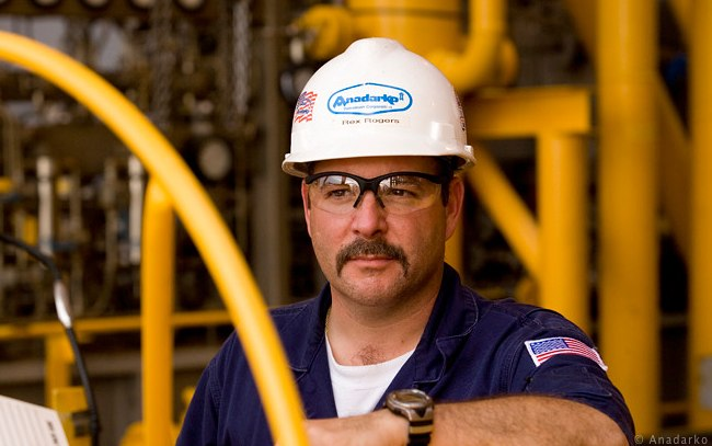 Anadarko Offshore Oil And Gas Worker