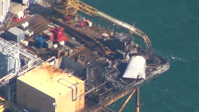 Damage Of The Black Elk Delta 32 Offshore Oil Platform Explosion
