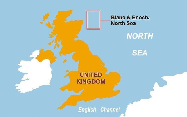 Offshore Enoch Oil Field, UK North Sea