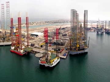 Lamprell Hamriya Jackup Rig Fabrication Yard, UAE