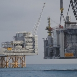 Edvard Grieg Offshore Oil and Gas Field During Installation, North Sea