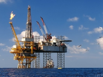 PA Resources Didon Offshore Oil And Gas Platform With Drilling Rig