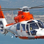 A Pawan Hans Offshore Dauphin Helicopter