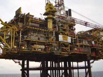 Shell Gannet Alpha Offshore Oil And Gas Platform, North Sea