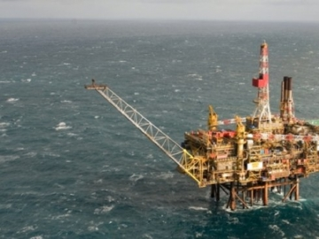 Shell Offshore North Sea Gannet Oil Platform