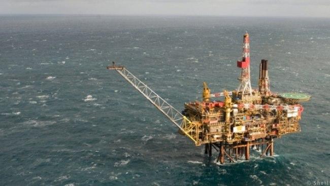 Shell Offshore North Sea Gannet Oil Platform