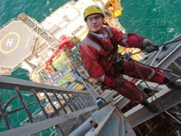 Offshore Maintenance Worker On BP West Azeri Platform, Azerbaijan