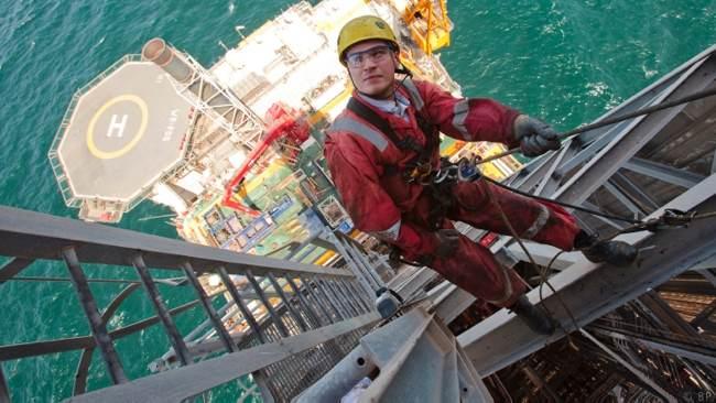 Offshore Maintenance Worker On BP West Azeri Platform, Azerbaijan