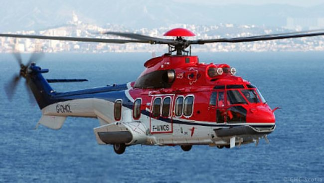 A CHC Scotia Super Puma Offshore Helicopter