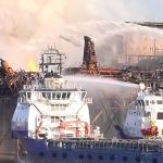 Socar Gunashli 10 Platform Fire Still Ablaze