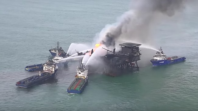Gunashli Fire On Platform 10 Continues To Burn A Week On