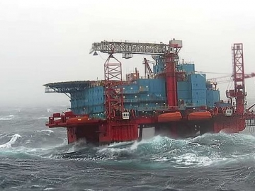 The Prosafe Safe Bristolia Accommodation Vessel Still Without Towline In The North Sea With Workers Onboard