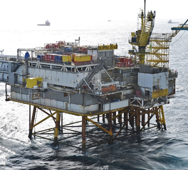 ConocoPhillips Ekofisk 2/4 B Offshore Oil Platform Norway North Sea
