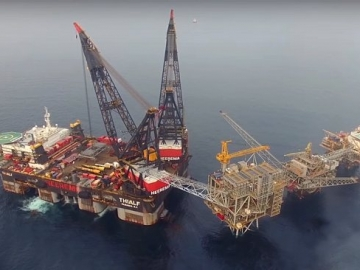 Video - New Marathon Oil Alba Platform Installation