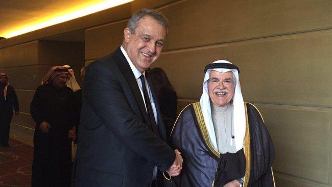Venezuela Oil Minister Eulogio Del Pino And Saudi Arabian Oil Minister Ali al-Naimi Meet