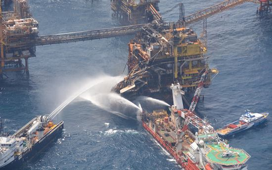 Three Killed Eight Injured In Offshore Platform Fire