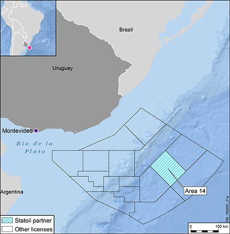 Statoil Uruguay Map