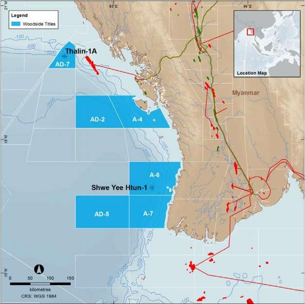 Woodside Petroleum Myanmar Map
