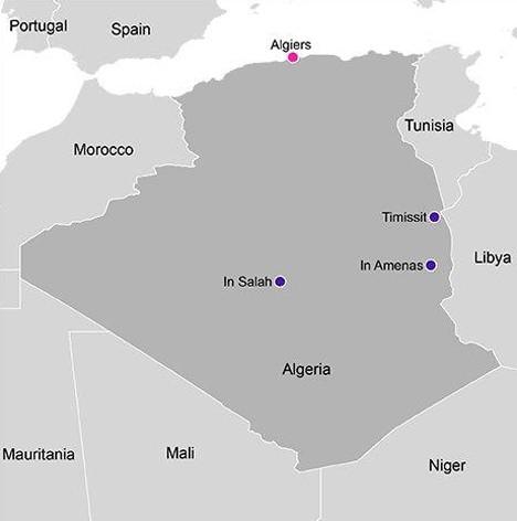Statoil Algeria Operations Map