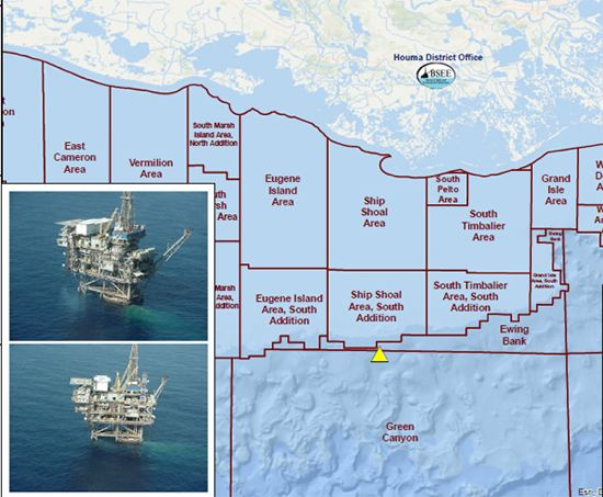 Whistler Energy Operated Green Canyon Block 18, Gulf Of Mexico. BSEE Office Indicated