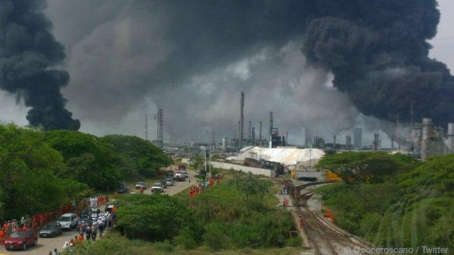 Pemex Coatzacoalcos Oil Terminal Fire