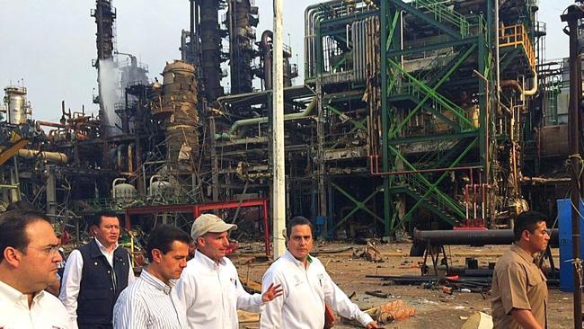Mexican President, Enrique Peña Nieto. Pemex Explosion.