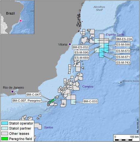 Statoil Brazil Exploration Map