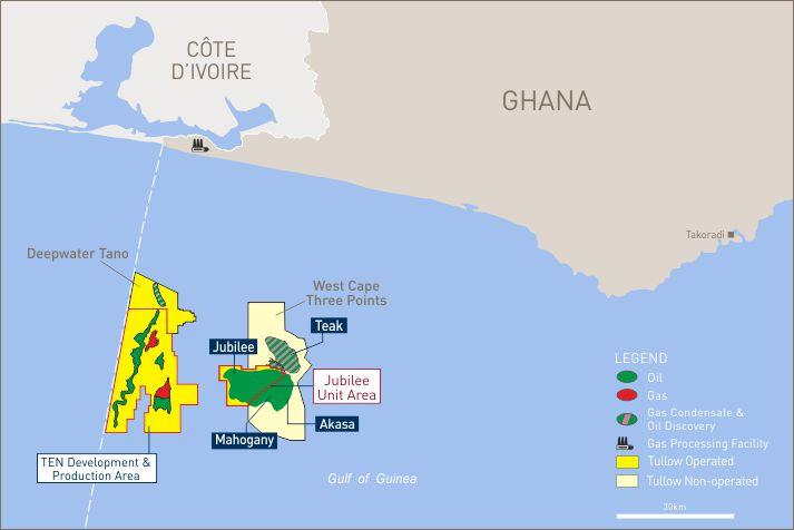 Tullow Oil Jubilee Field Map