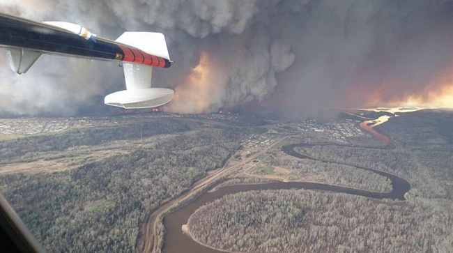 Canadian Wildfires Near Oil Sands Fort McMurray