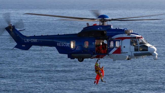 Offshore Helicopter Search And Rescue Bristow Super Puma