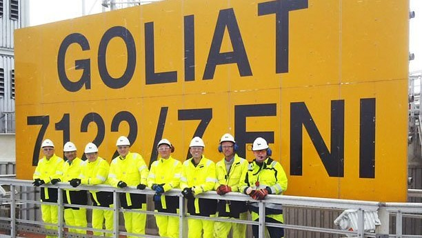 ENI Offshore Workers On Goliat FPSO, Barents Sea