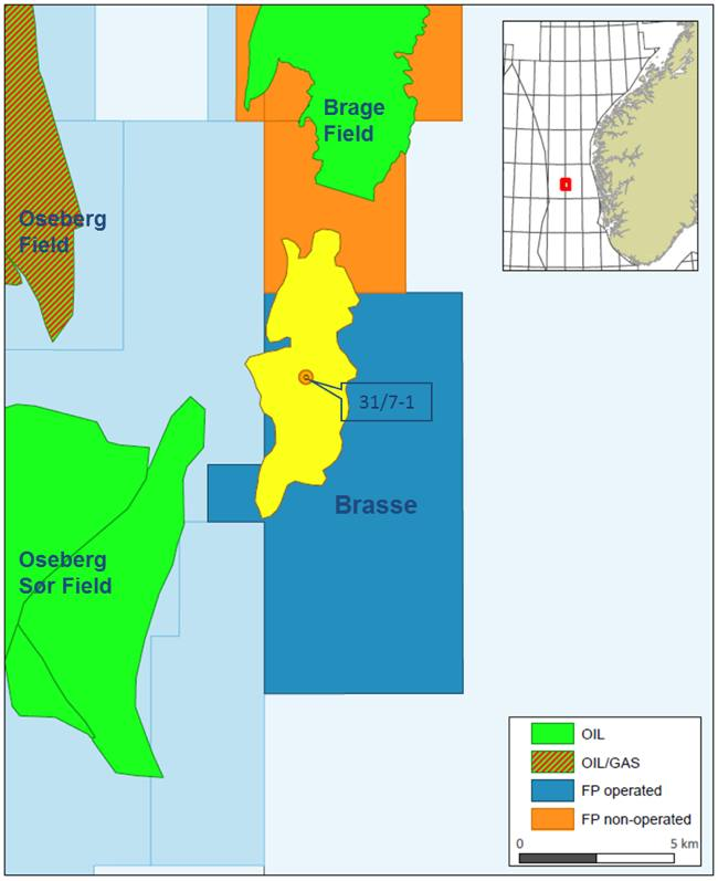 Faroe Petroleum Offshore Oil Exploration Map