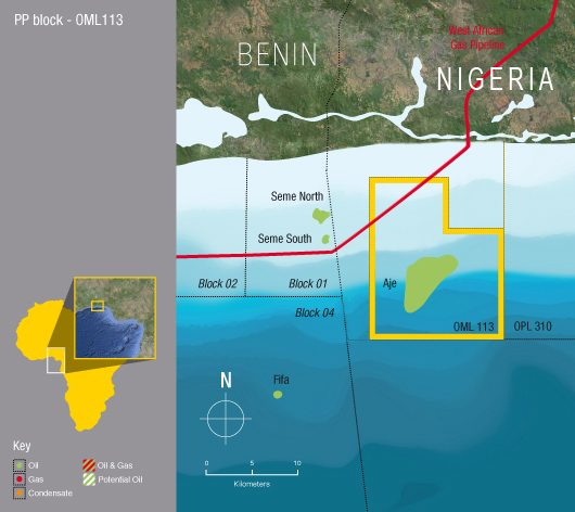 Panoro Energy Nigeria Operations Map