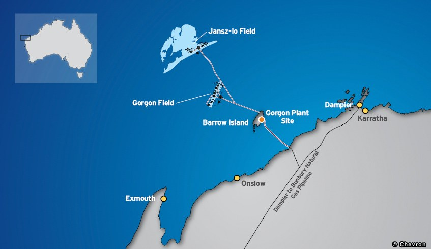 Chevron Gorgon LNG Project Map