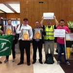 North Sea Oil Workers Walk Out