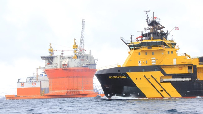 Nord Viking With ENI Goliat FPSO
