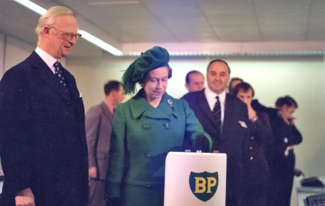 North Sea Oil & Gas Is Turned On By HM Queen Elizabeth In 1975