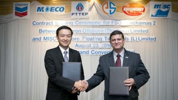 Chevron Hires FSO Vessel Offshore Thailand