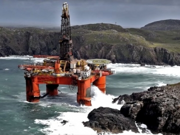 Transocean's Grounded Drilling Rig Now Leaking Fuel