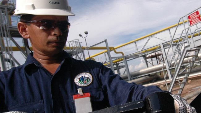 Chevron Oil and Gas Worker Indonesia